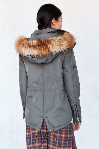 L Fur Faux Urban Trim Nyc Parka S13 Large Jakke 229 Outfitters Sz USUqvOa
