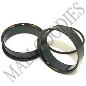 0088-Black-Single-Flare-Flesh-Steel-Tunnels-Earlets-Big-Gauges-1-3-8-034-Plugs-35mm
