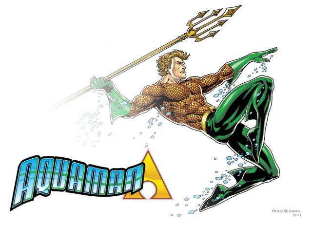 AQUAMAN King of the Sea Pin Up Poster DC w Translucent Effect
