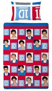 One-Direction-Linge-De-Lit-Reversible-Craze-135x200-Parure-De-Lit-Lavable-neuf