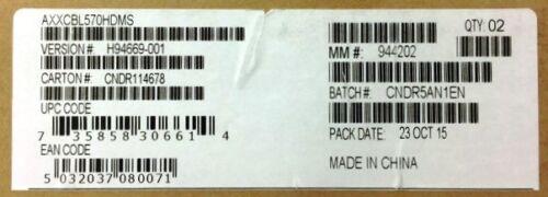 Intel AXXCBL570HDMS Mini-SAS Cable Kit  NEW BULK PACKAGING