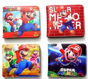 Super-Mario-Bros-Luigi-Wallet-Geldboerse-ID-Fenster-Zip-Coin-Pocket-Card-4-Stile