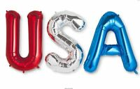 Usa Jumbo Party Balloon Banner Kit - Red Silver Blue - Cheer For Team Usa