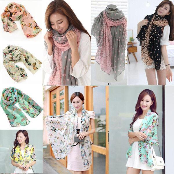 Women Fashion Pretty Long Soft Paris Yarn Scarf Wrap Shawl Stole Scarves Hot