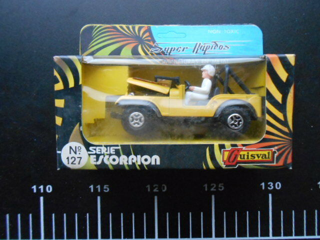 Super rapidos miniaturras miniaturras miniaturras en metal guisval serie escorpion 127 jeep renegade 79375f