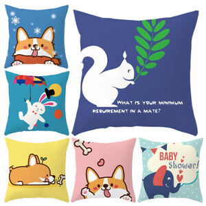 Am-Cute-Animal-Throw-Pillow-Case-Cushion-Cover-Kids-Bedroom-Home-Decor-Gift-Hea