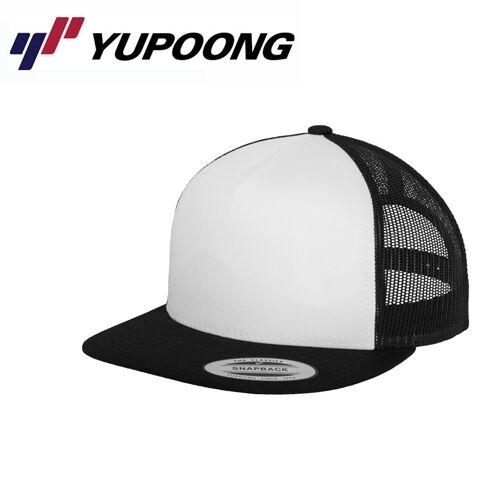 Yupoong Mesh Trucker Cap Nero Bianco
