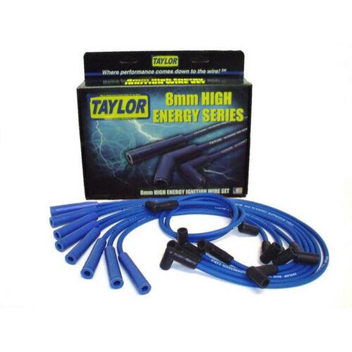 135° for Chrysler V8 Taylor Spark Plug Wire Set 64672; High Energy 8mm Blue 90°
