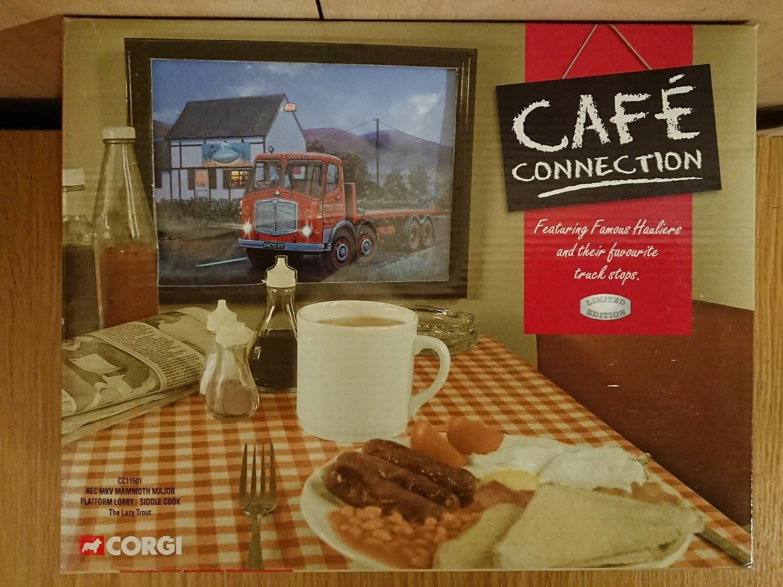 Corgi CC11501 Cafe Conn. AEC MkV Mammoth Major Siddle S Cook Ltd Ed 0004 of 2700