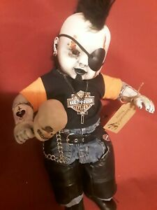 Sinisterly-Sissy-039-s-039-Biker-Dan-039-Undead-Spooky-Creepy-Haunted-Gothic-20-inch