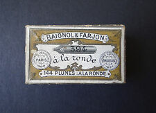 Boite plume BAIGNOL & FARJON n°394 old nibs box pen pennini Schreibfeder