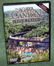 "TRAIN VIDEO DVD ""THE AGAWA CANYON TOUR TRAIN"" SCENIC RAILROAD CN CANADA"