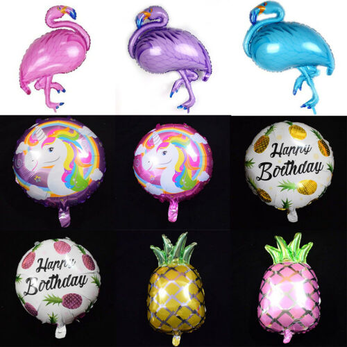 Happy Birthday Balloons Self Inflating Animal Number Foil Balloons Party Decor