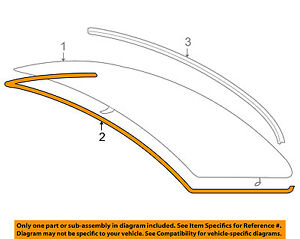 BMW E90 3-SERIES REAR WINDSHIELD UPPER MOULDING SEAL 328I 335I M3 NEW GENUINE
