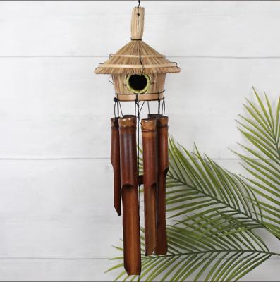 105cm Bamboo Windchime Paglia Hut Bird House Handmade Etici Giardino Arredamento Regalo-
