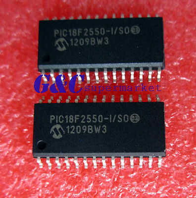 10PCS IC PIC18F2550-I/SO PIC18F2550 SOP28 Microcontroller MCU NEW DATE CODE12+