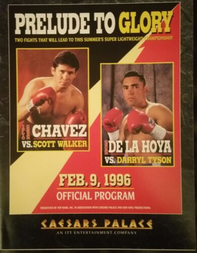 BOXING PROGRAMME PRELUDE TO GLORY CHAVEZ VS WALKER DE LA HOYA VS TYSON RARE