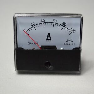 how to read an analog ammeter