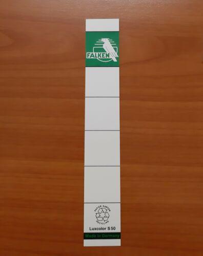 Rückenschilder Ordnerrücken Luxcolor S50 S80 3cm 5,4cm 10 Stück NEU