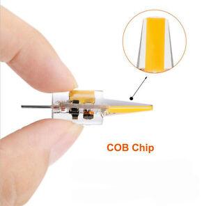 10x G4 5W 6W AC DC 12V LED COB Mini Bulb Light Replace Halogen Lamp Dimmable