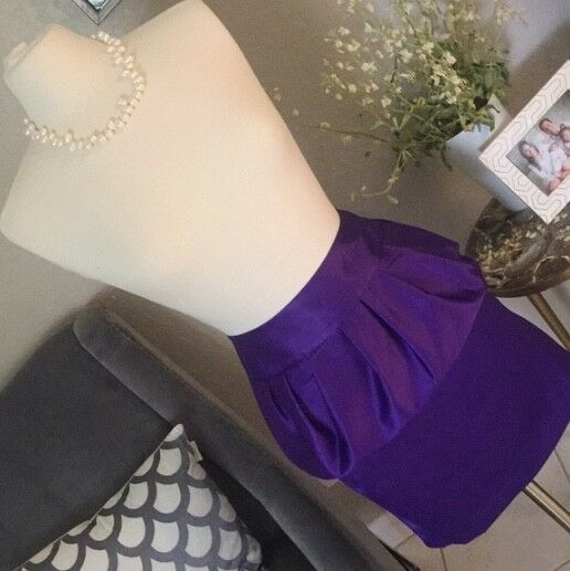 139 NWOT Forenza by The Limited Purple Peplum Skirt Size 8