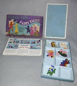 FUZZY-FELT-FAIRY-TALES-Allan-Industries-England-collectable-Vintage-Retro