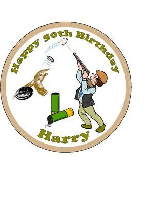 Surprising Personalised Clay Pigeon Shooting Hunting Edible Icing Birthday Funny Birthday Cards Online Necthendildamsfinfo