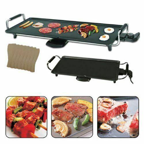 Grand Teppanyaki Grill de table plaque chauffante électrique Bbq Crêpière Camping 2000 W