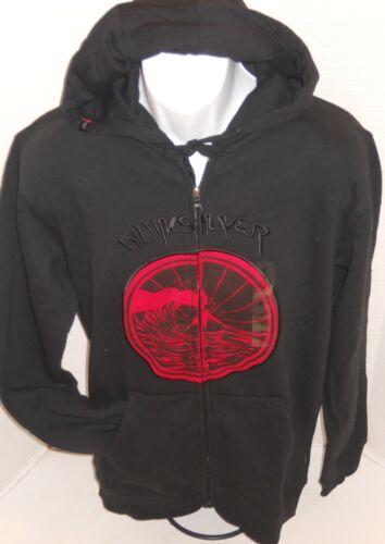 QUIKSILVER Men/'s Black Skeptic Logo Hoodie Sweatshirt Jacket Size M