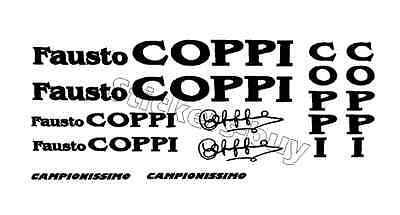 KIT 10 ADESIVI PRESPAZIATI BICI Fausto COPPI  STICKER Fausto COPPI