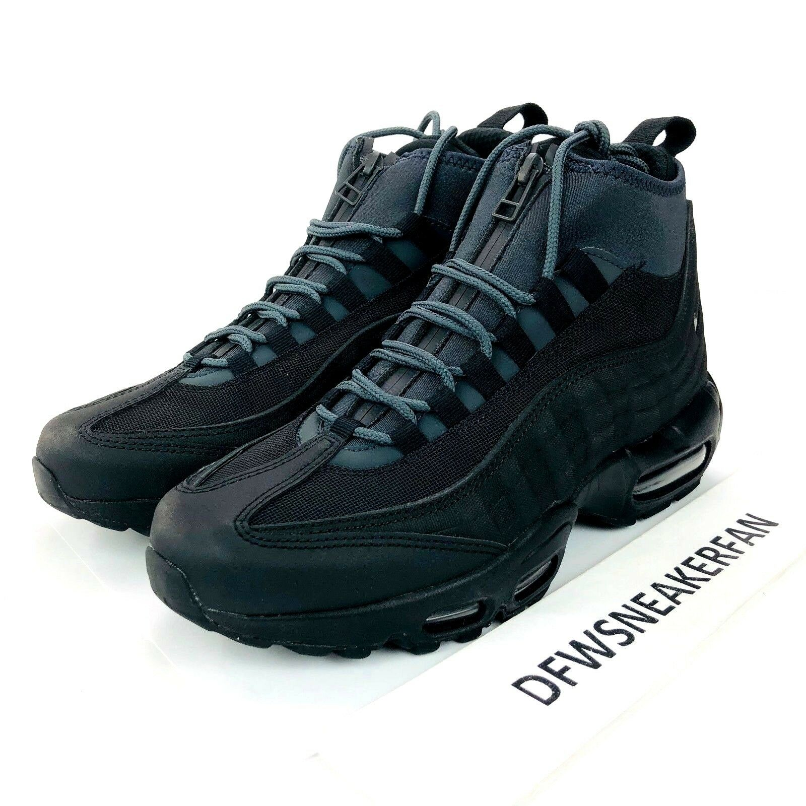 Nike Air Max 95 Sneakerboot shoes Men's Size 8 Black Anthracite 806809 001 New