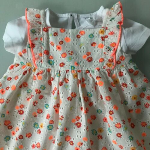 Baby Kleid Kleidchen Schleife Blumen T-Shirt Lemon 100/% Baumwolle