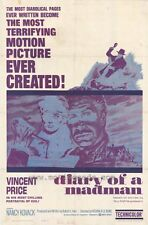 DIARY OF A MADMAN Movie POSTER 27x40 Vincent Price Nancy Kovack Chris Warfield