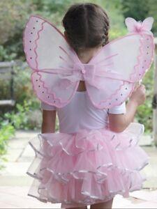 Nina-Rosa-Pastel-Princesa-Hada-carnaval-disfraz-3-8yrs-ANOS