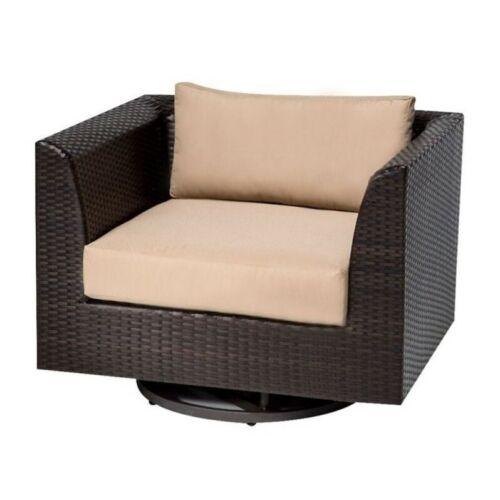 TKC Barbados Outdoor Wicker Swivel Chair in Wheat 639738809908