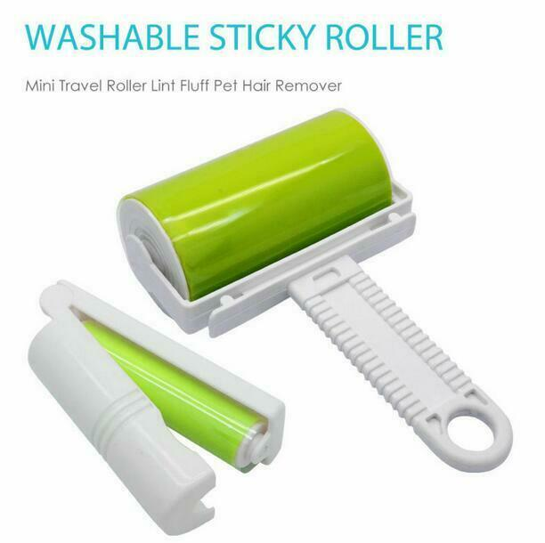 Portable Fast Fit Sticky Roller Lint Fluff Pet Hair Remover Mini Travel Roller Cleaning Supplies Onsale