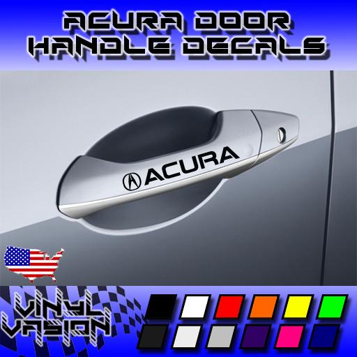 4x ACURA Door Handle Decal Sticker TSX TL TLX RL MDX RDX