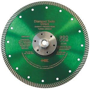 230-mm-Diamantscheibe-Diamant-Trennscheibe-Turbo-Granit-Beton-mit-Flansch-M-14