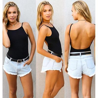 Fashion Lady Body Suit Strap Backless Bodysuit Tops Jumpsuit Blouses 2 Colors JJ