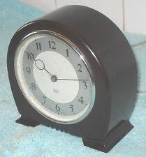 ART DECO 1930s VERY STYLISH SMITH SECTRIC (electric)  BAKELITE MANTEL CLOCK