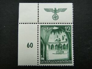 Germany Nazi 1940 1941 Stamp MNH Swastika Eagle Generalgouvernement WWII Third R