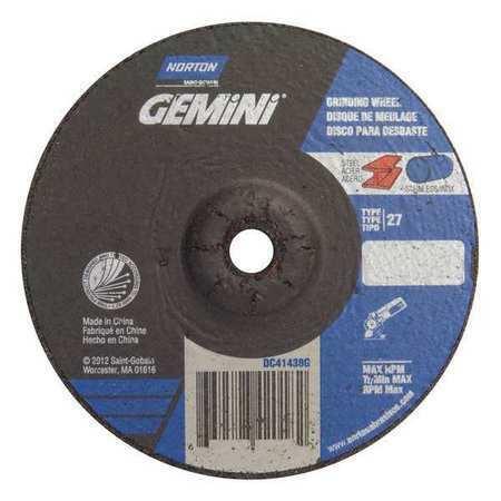 NORTON 66252842179 Gemini Depressed Center Wheel,T27,3x1//4x3//8,AO