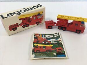 Lego-systeme-Legoland-640-VINTAGE-70-s-fire-engine-complet-avec-instructions-et-Case