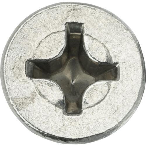 "10-32 x 3/"" Flat Head Machine Screws Phillips Drive Stainless Steel Qty 25"