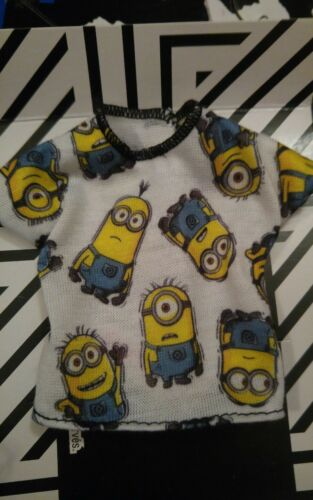WHITE DESPICABLE ME MINIONS  top for SLIM KEN doll