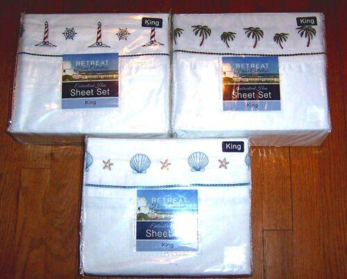 Nautical Sheet Sets: Palm Trees Seashells etc. Ships Wheel /& Anchor