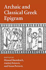 Archaic and Classical Greek Epigram by Cambridge University Press (Paperback, 2016)