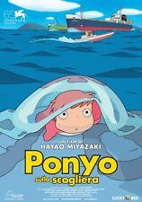 POSTER PONYO SULLA SCOGLIERA HAYAO MIYAZAKI STUDIO GHIBLI LOCANDINA CINEMA #1