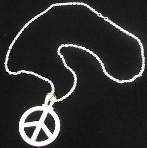 La Pace Medaglione-Costume hippie sign Collana Hippy 60s Accessorio Costume