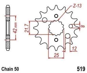 Tmp Pignon Sortie Boite Avant 15 Dents (chaine50) Suzuki Gsf 1200 Bandit 1996-06